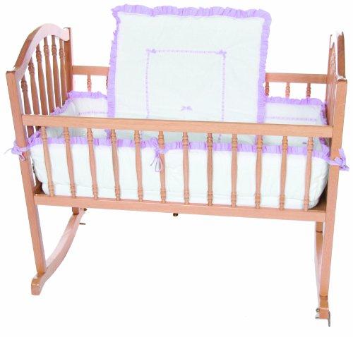 Baby Doll Bedding Unique Cradle Bedding Set, Lavender