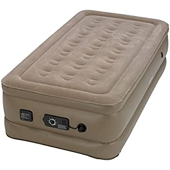 Insta-Bed Raised Air Mattress with Never Flat Pump, Beige, Twin