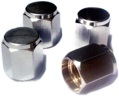Valve Caps HEXAGON Lot de 4 capuchons de valve Haut de Gamme Laiton + Chrome EDELSIGN
