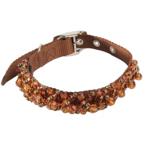 Fabuleash 12 Inch Beaded Dog Collars - SMOKED TOPAZ
