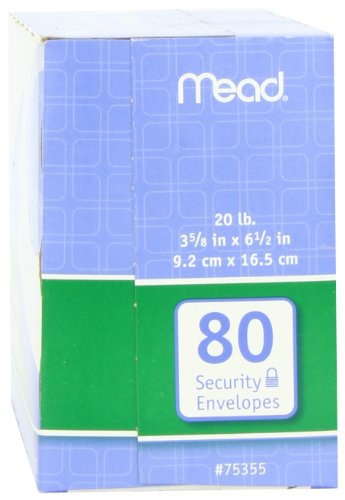 043100752127 - Mead #6 3/4 Security Envelopes, 80 Count (75212) carousel main 5