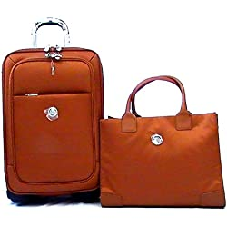 JOY TuffTech Luggage with Tote Ensemble with Revolutionary SpinBall Wheels - Cognac