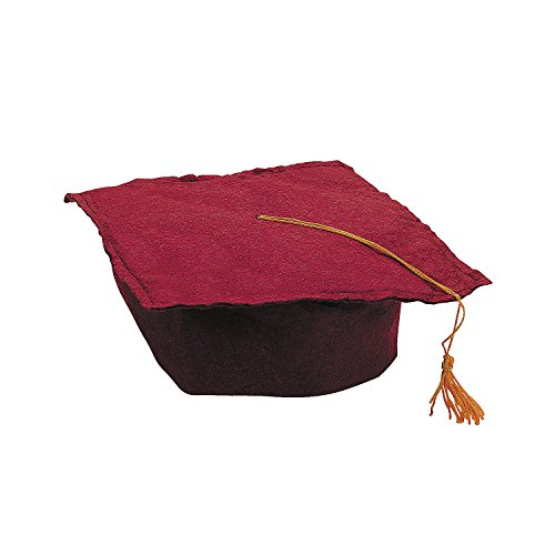 Fun Express Burgundy Graduation Cap for Children - Perfect for Your Preschool or Daycare Grad Ceremony - Package of 12 Hats]()