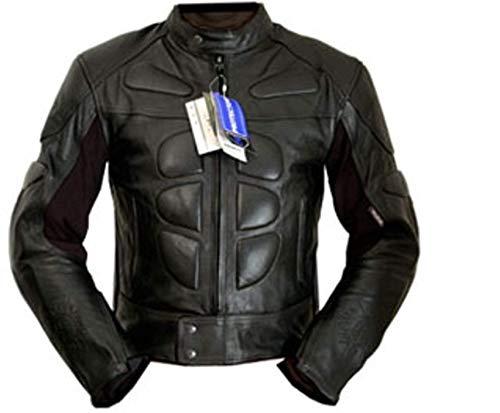 4LIMIT Sports Herren Motorradjacke Leder STREETBANDIT Biker Rocker Motorrad Jacke Lederjacke schwarz