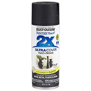Rust-Oleum 249127 Painter's Touch Multi Purpose Spray Paint, 12-Ounce, Flat Black