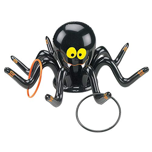 Fun Express - Inflate Spider Ring Toss Game for Halloween - Toys - Inflates - Inflatable Games - Halloween - 5 Pieces -