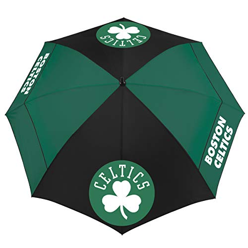 Team Effort NBA Boston Celtics 62'' Windsheer Lite Umbrella62 Windsheer Lite Golf Umbrella, Multi, NA by Team Effort