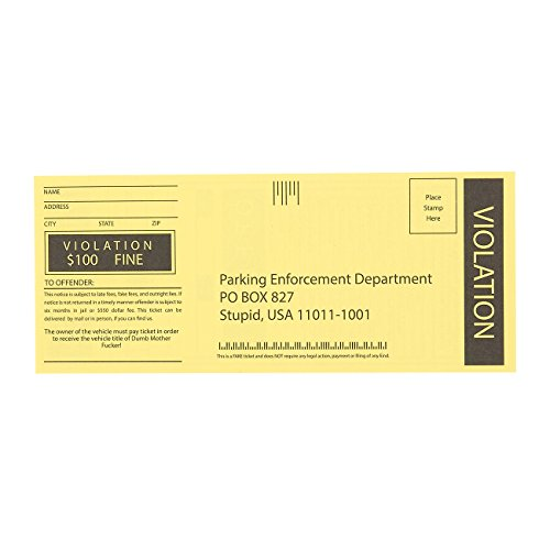 100-Sheet Fake Parking Tickets