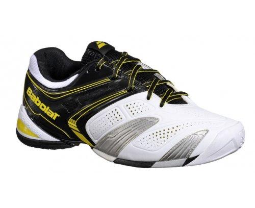 BABOLAT V-Pro 2 Omni Zapatilla de Tenis Caballero Blanco/Negro/Amarillo