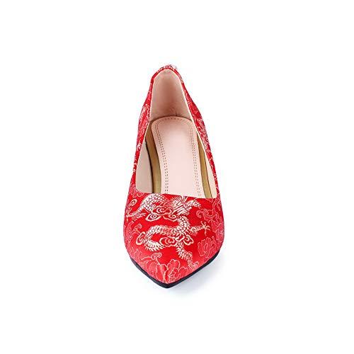 Femme Red Rouge DGU00699 Compensées 5 36 AN Sandales Zwt7g8qO