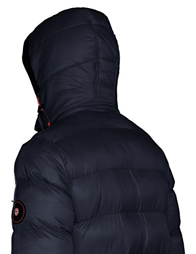Marino Geographical Norway Uomo Blu Counter Cappotto q0qSBO