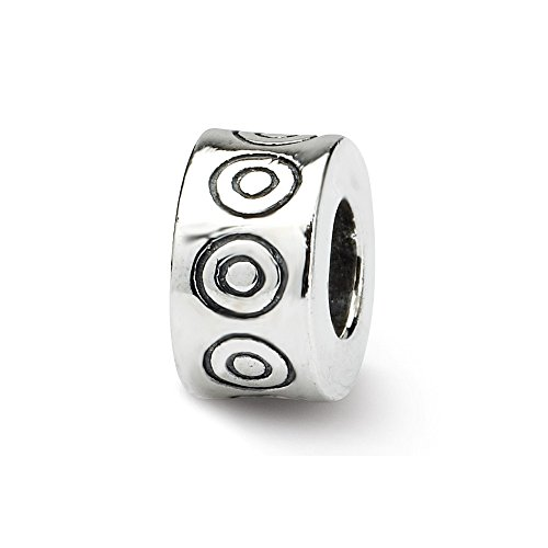 925 Sterling Silver Charm For Bracelet Circles Bali Bead Fine Jewelry Gifts For Women For ()
