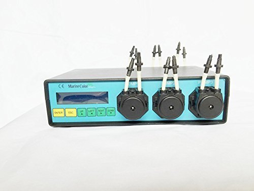 Marine Color Dosing Pump MCD-6, 6 Channel (Pumpheads) Dosing Pump, Peristaltic Pump, for Reef Marine Tank and Laboratory by Marine Color