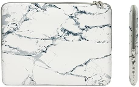 Designed to Fit Any Laptop//Notebook//ultrabook//MacBook with Display Size 11.6 Inches Marble Texture Design with Golden Geometric Pattern Neoprene Sleeve Pouch Case Bag for 11.6 Inch Laptop Computer