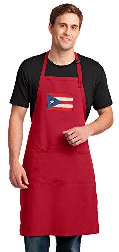 Broad Bay Large Puerto Rico Flag Mens Apron or Womens Aprons -