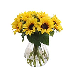 Crt Gucy 6 Pcs Artificial Sunflowers Bouquet For Home Hotel Office Decoration 14