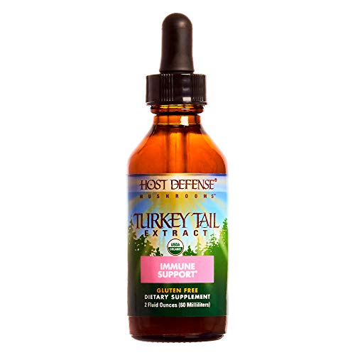 Host Defense – Turkey Tail Mushroom Extract, Naturally Supports Immune Response, Non-GMO, Vegan, Organic, 60 Servings 2 Ounces