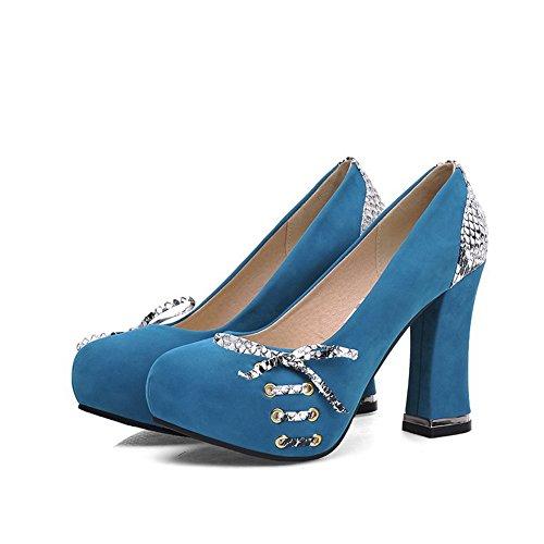 Balamasa Da Donna Slip-on Tacco Alto In Microfibra Di Colore Assortito, Scarpe-scarpe Blu