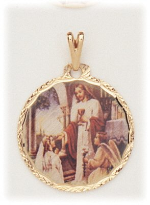 PH91 PHOTO CHARM COMMUNION GIRL ROUND