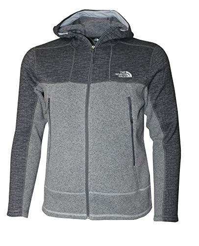 The North Face Men's Full Zip GL Alpine Hoodie Fleece Jacket (L) Asphalt Grey