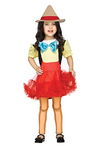[Pinocchio Girl Doll Toddler Costume 2T] (Pinocchio Adult Costumes)