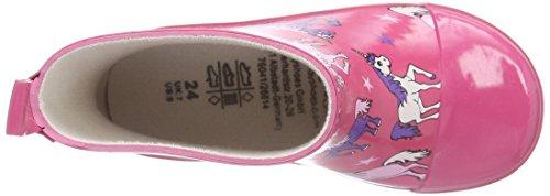 Playshoes Kurze Aus Naturkautschuk Einhorn Mädchen Kurzschaft Gummistiefel Pink (pink 18)