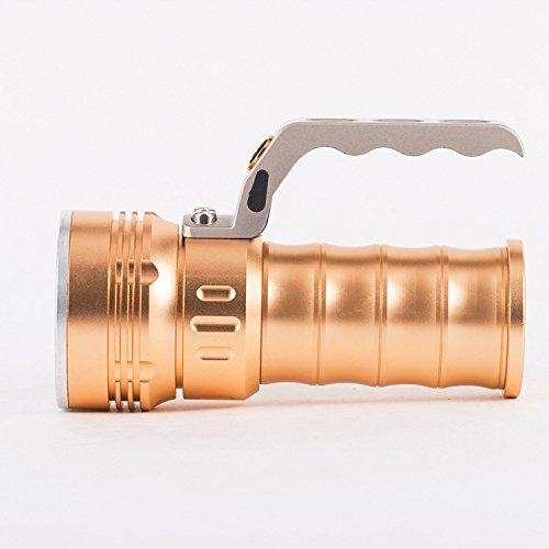Jia&he LED lampada di emergenza di lega leggera impermeabile torcia Lanterna lampada luce di carica , oro