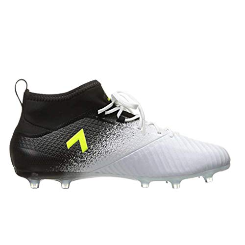 Picture of adidas Men's Ace 17.2 Firm Ground Cleats Soccer Shoe, White/Solar Yellow/Black, (10 M US)