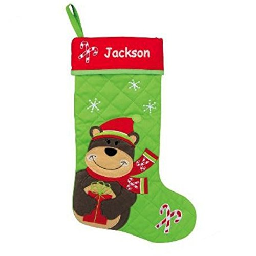 Personalized Quilted Christmas Stocking (Bear)