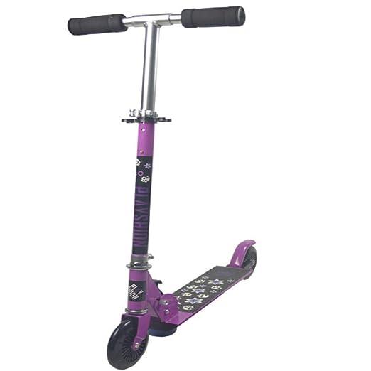 ZHIJINLI Scooter Plegable para niños telescópico de Dos ...