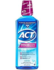 ACT Braces Care Ant-Cavity Fluoride Mouthwash, Clean...