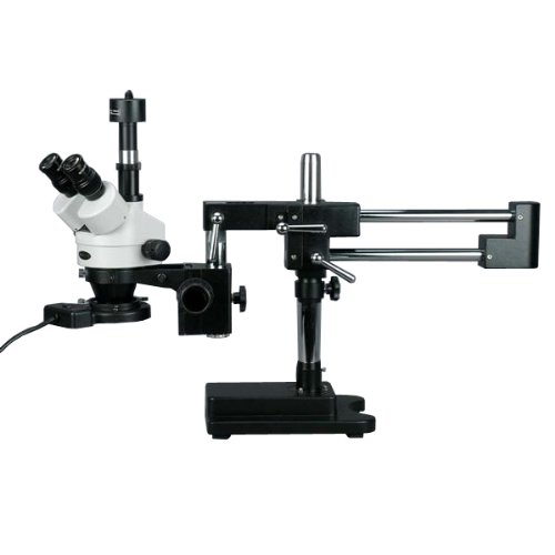 AmScope-SM-4TZ-FRL-MB-Digital-Professional-Trinocular-Stereo-Zoom-Microscope-WH10x-Eyepieces-35X-90X-Magnification-07X-45X-Zoom-Objective-8W-Fluorescent-Ring-Light-Double-Arm-Boom-Stand-110V-120V-Incl