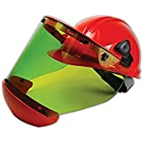 Translucent National Safety Apparel H65UQUQU40HATPV PureView Compliance 40 Cal Arc Flash Hood with Face Shield Hard Hat Included One Size Polycarbonate Highly Transparent