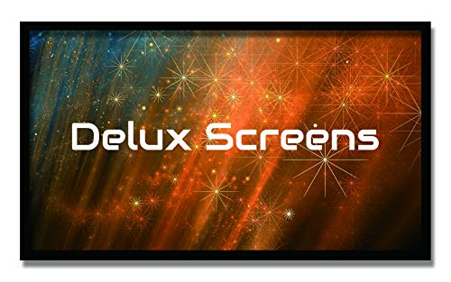 - Delux Screens 120 inch 4K/8K Ultra HDR Projector Screen - Active 3D Ready - 6 Piece Fixed Frame - Home Theater Movie Projection Screen - Silver HIGH Contrast - Velvet Border (120