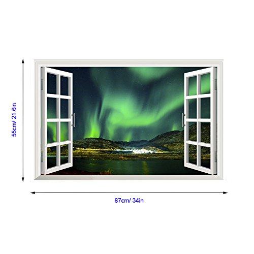90cm ZHFC- Blue Sky Sky 3D Luce Muro Dipinto Muro 60