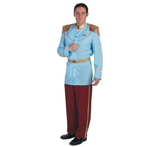 [Prince Charming Deluxe Adult Costume] (Cinderella Fancy Dress Adult)
