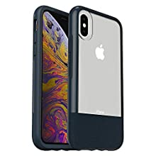 OtterBox Clear & Leather Case for iPhone Xs - LUCENT JADE (CLEAR/DARK JADE/DARK JADE LEATHER)