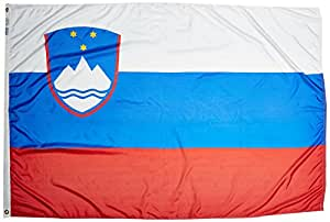Annin Flagmakers 221732 Nylon SolarGuard Nyl-Glo Slovenia Flag, 4 x 6'