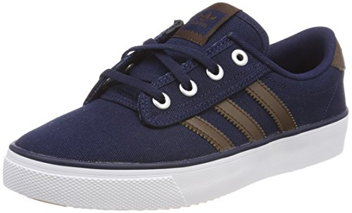 Adulte footwear White 0 brown Bleu Adidas Kiel Navy Mixte Baskets collegiate HCHWqSwt