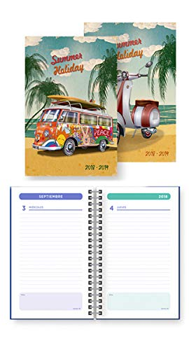 AGENDA ESCOLAR ESP. A6 DP 18-19 BAGGUAY RETRO VESPA: Amazon ...