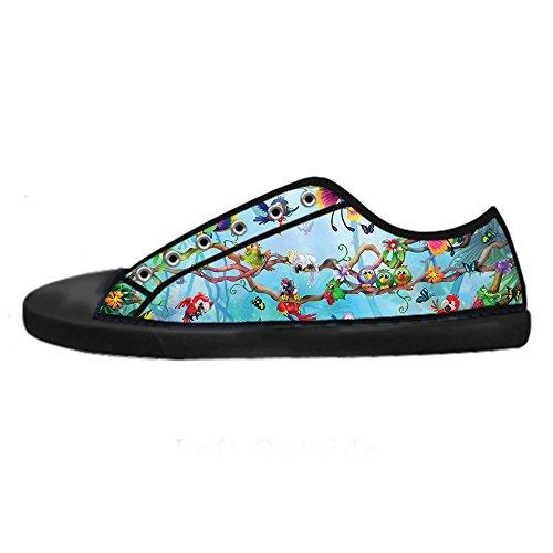 E Shoes Canvas Delle Lacci Uccello Da I Alto Scarpe Foresta Di Tela Ginnastica In Sopra Custom Men's Le XxFAwqI