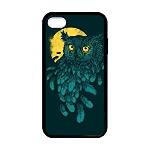 SUUER Rubber Silicone Custom Lovely Funny Owl Design Skin Personalized Custom Rubber Tpu CASE for iPhone 5 5s Durable Case Cover by heywan