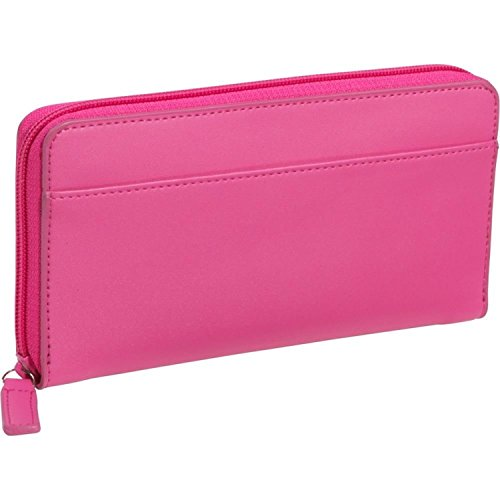 Royce Leather Rfid Blocking Continental Clutch Wallet Handcrafted in Leather, Pink
