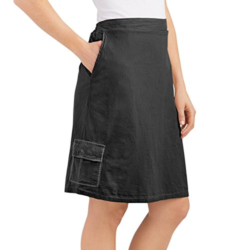 Womens Cargo Skort Elasticized Cotton