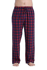 CYZ Men's 100% Cotton Super Soft Flannel Plaid Pajama Pants