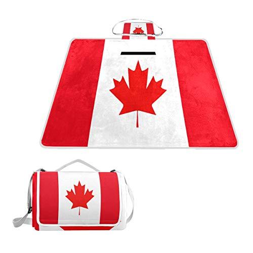 - SLHFPX Canadian Flag Picture Large Picnic Blanket Mat for Outdoor Water-Resistant Handy Mat Tote for Beach Camping Yoga Baby Mat 57