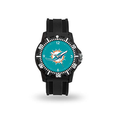 Rico Industries NFL Miami Dolphins Model Three Watch - Miami Dolphins Black Face