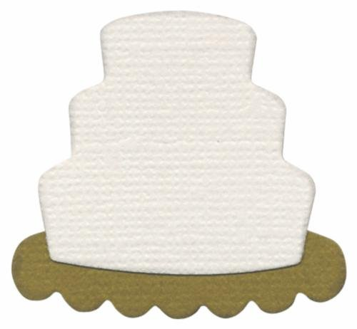 We R Memory Keepers 2-Inch by 2-Inch Die, Wedding Cake (Cake Quickutz)