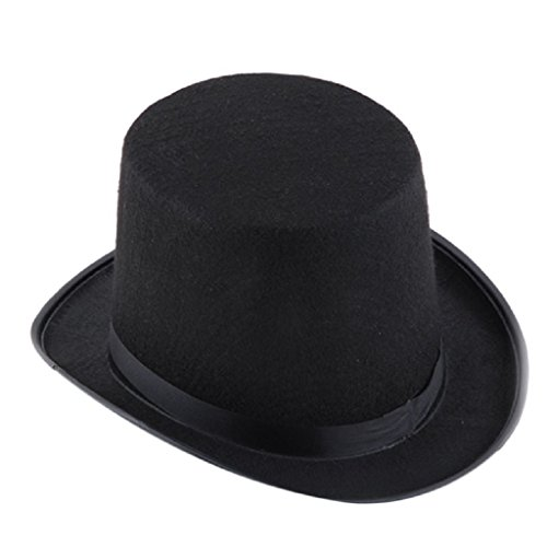 Bigban Black Hat Halloween Magician Magic Hat Jazz Hat (Black) (Fancy Dress Magician)