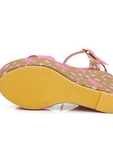 ShangYi Womens Shoes Heel Wedges / Heels / Peep Toe / Platform Sandals / Heels Outdoor / Dress / Casual Blue / Pink Blue